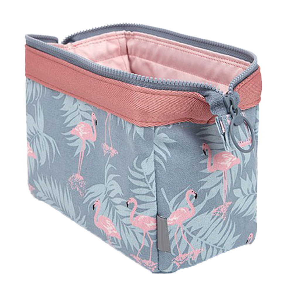 Fashion Flamingo Flower Print Makeup Brushes Holder Bag Pouch Portable Gift protective flip open pu leather case w stand for amazon kindle fire hd 6 deep blue