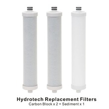цена на Compatible Hydrotech Replacement Reverse Osmosis Water Filter Cartridge Set Sediment Filters x 1 and Carbon Block Filter x 2