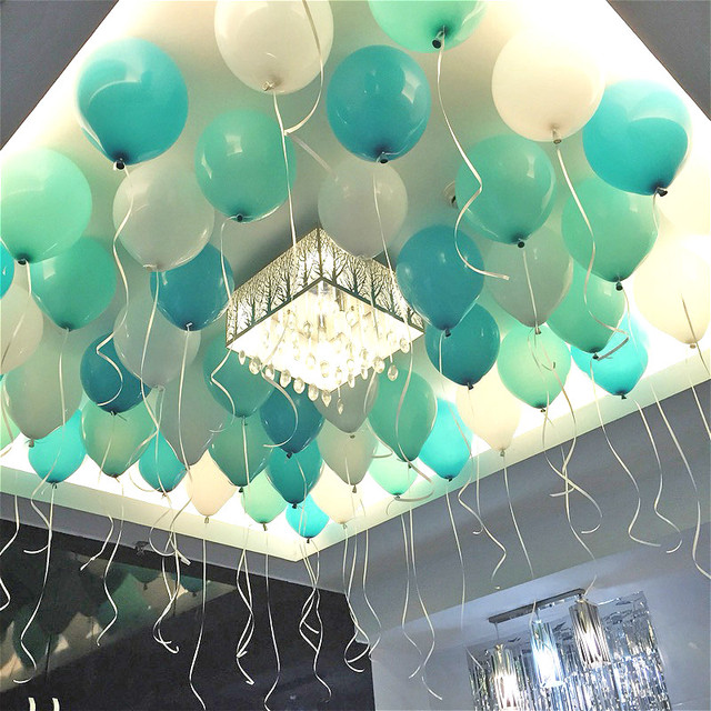 100pcs 10 Inch Tiffany Blue Latex Balloons Birthday Party Wedding