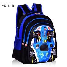 YK-Leik 3D Racing Kinder Nette Schultasche Druck Kinder Rucksack kinder Orthopädische Schultaschen Wasserdichte Rucksäcke