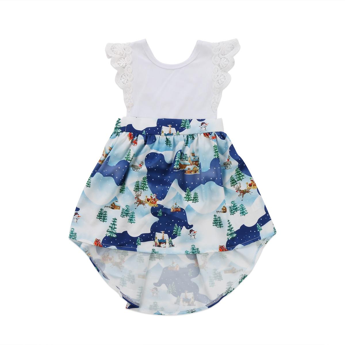 2018 Cute Christmas Newborn Baby Girl Kid Xmas Lace Sleeveless ...