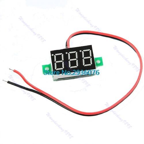OOTDTY 2017 DC2.7-30V Green Volt Voltage Meter LED Display Digital Voltmeter Self-Powered MAR18_15
