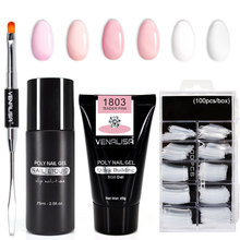 Venalisa Poly Nail Gel Nail Art Franse Nail Constraction Builder Jelly Borstel Acryl Clearnser Plus Remover Anti Oplossing