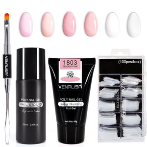 Image 1 - Venalisa Poly Nail Gel Nail Art French Nail Constraction Builder Jelly Brush Acrylic Clearnser Plus Remover Slip solution