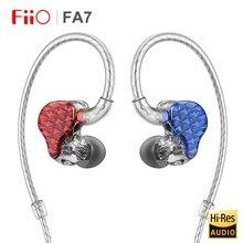 FiiO FA7 o wysokiej rozdzielczości Knowles Quad sterownik wyważone armatura HiFi douszne monitory słuchawki z MMCX odłączany kabel DLP 3D drukowane