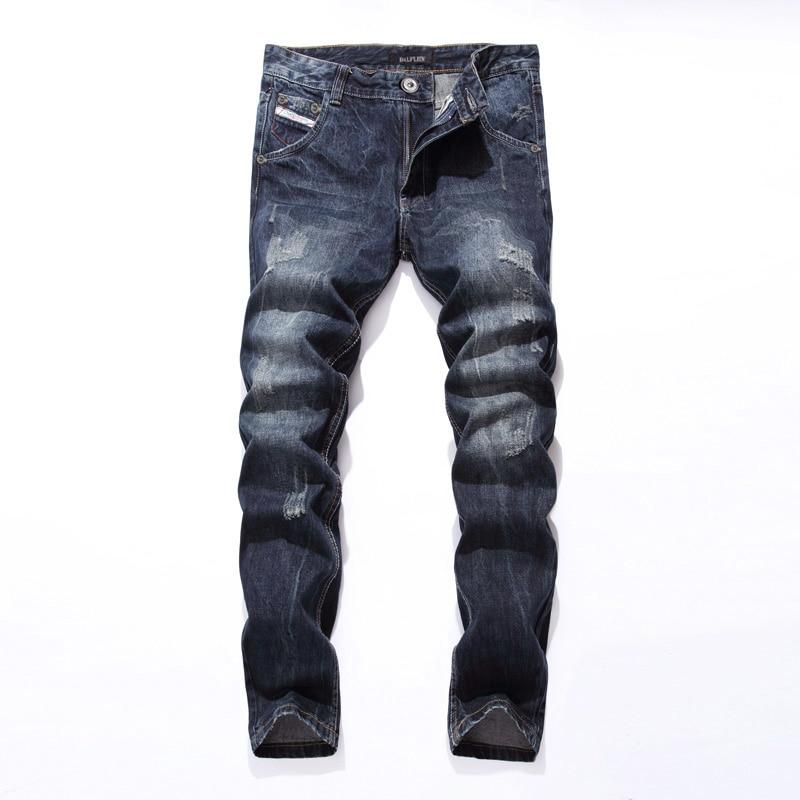 2019 New Dsel Brand Fashion Designer Jeans Men Straight Blue Color Printed Men Jeans Ripped Men Jeans!E988