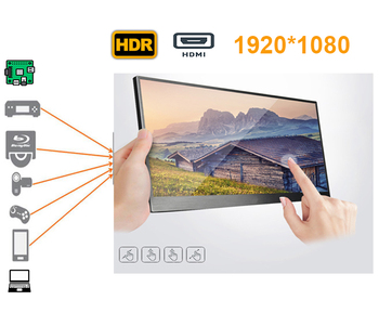 15.6 inch touch wide-screen LCD monitor ideal for Xbox, PS station game console , HDMI devices respberry pi, car use