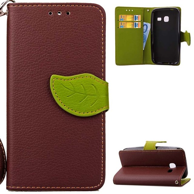 BEFOSPEY Leaf Leaves Wallet Pu Leather Case Magnetic Holster Luxury Elegant Cover For Samsung Galaxy J1mini