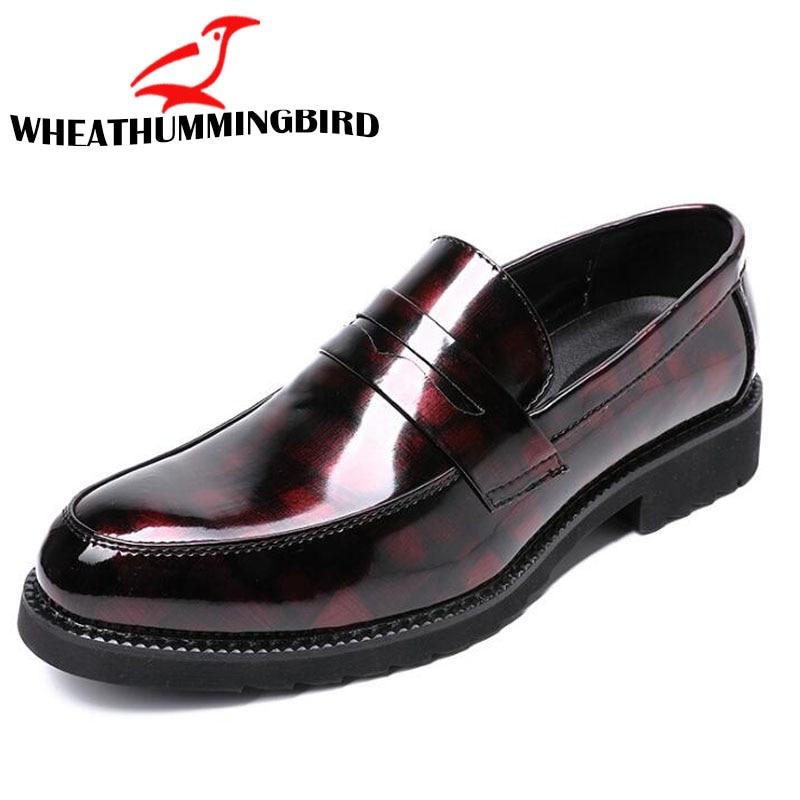Mocassins Homme Richelieus 2018 De Partie bleu Le Robe Nouveau Bureau En Hommes Chaussures Cuir Mocassin rouge D'affaires 04 Mariage Noir 4wEw8A6qx