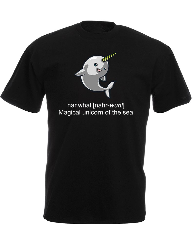 Tee Shirt Websites Short Printing Narwhal, Mens Printed O-Neck Mens Shirt