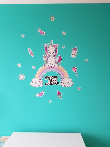 Colorful Unicorn Rainbow Wall Stickers photo review