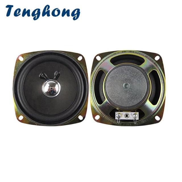 Tenghong 2 個 3.5 インチポータブルオーディオスピーカー 93 ミリメートル 4Ohm 5 5wフルレンジスピーカーユニットバブル盆地 2.0 放送オーディオスピーカーdiy