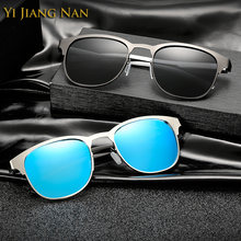 Солнцезащитные очки в ретро стиле uv400 для мужчин зеркальные