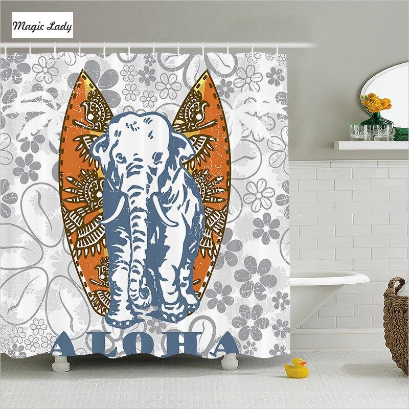 Shower curtain animal print bathroom accessories for Orange and grey bathroom accessories