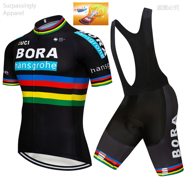 2018 TEAM Black BORA Cycling Jersey 16D Gel Bike Shorts Ropa Ciclismo Mens  Summer Quick-dry Pro Bicycling Wear Maillot Culotte 41308692b