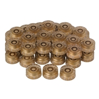 Yibuy 200 pcs Speed Control Knobs Gold with White Number for Electric Guitar