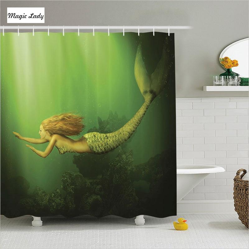 Shower Curtain Little Mermaid Bathroom Accessories Decor