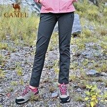 cb74261253 CAMEL Women Outdoor Hiking Pants Waterproof Windproof Fleece Inner Thermal  Sport Climbing Trekking Softshell Trousers(