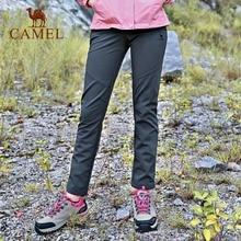 CAMEL Women Outdoor Hiking Pants Waterproof Windproof Fleece Inner Thermal Sport Climbing Trekking Softshell Trousers