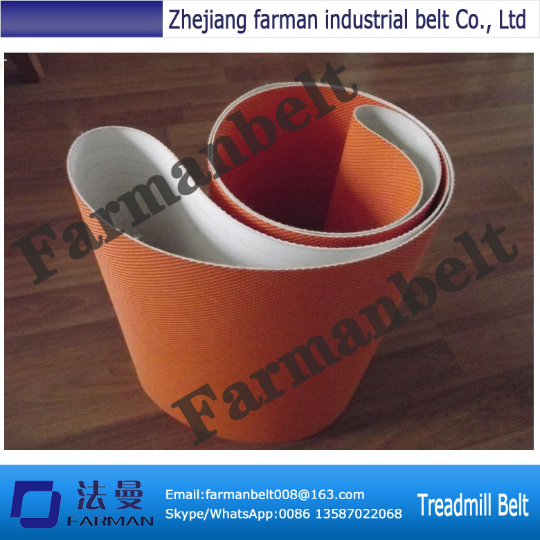 Farman 1.4mm thickness red/orange diamond pattern treadmill belt 20pcs lot 2513n to 252