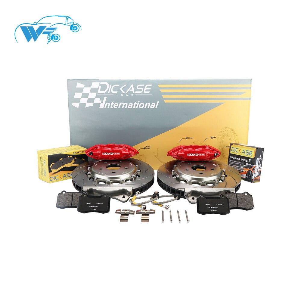 KOKO RACING racing using car brake system brake caliper V4 4 big pot disc 330mm*28mm rear wheel 17 inches for S2000 Honda 2008