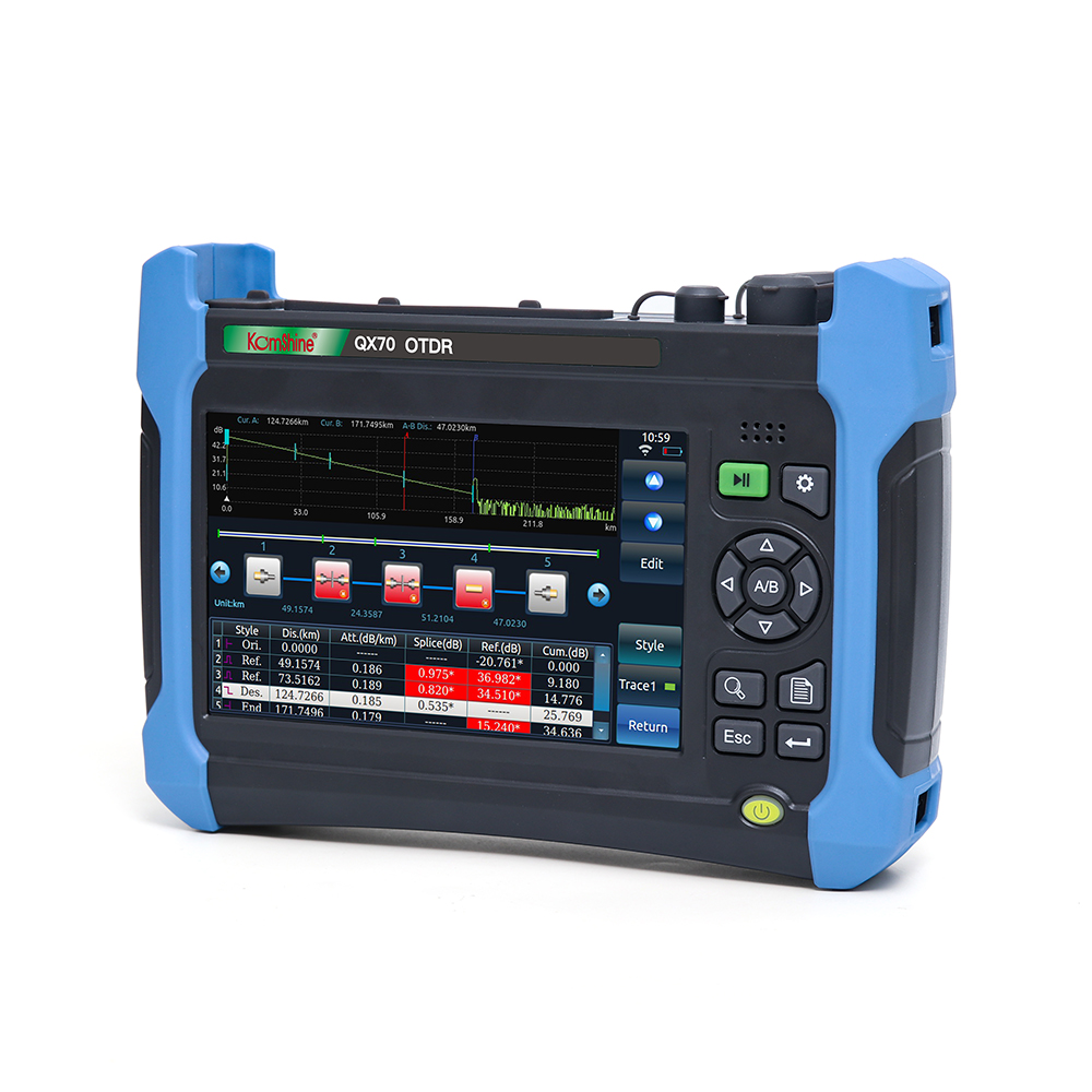 Image 2 - Komshine QX70 P Live PON OTDR 1310/1550/1625nm 32/30/28dB With OPM,OLS,VFL,Link map,Wifi,and bluetooth ect functions-in Fiber Optic Equipments from Cellphones & Telecommunications