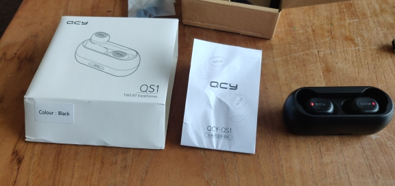 QCY QS1 T1C Mini Dual V5.0 Wireless Earphones Bluetooth Earphones 3D Stereo Sound Earbuds with Dual Microphone and Charging box-in Bluetooth Earphones & Headphones from Consumer Electronics on AliExpress