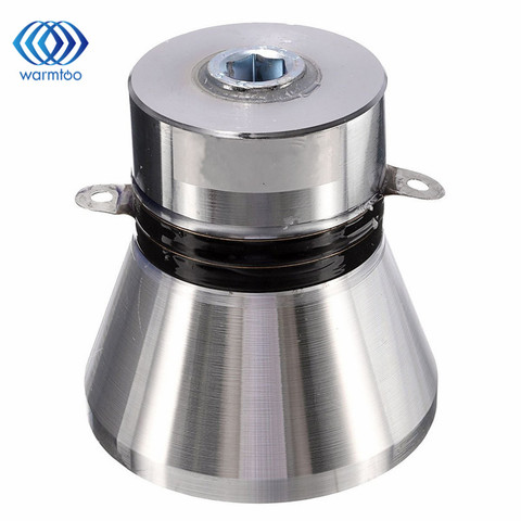 1Pcs  100W 28KHz Aluminum  Alloy Ultrasonic Piezoelectric Transducer Cleaner Silvery High Performance Ultrasonic Cleaner Parts Lahore