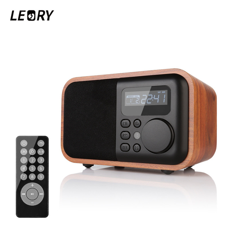LEORY Home Desktop Radio Speaker Wirless Bluetooth Digital Alarm Clock Speaker for Smartphones Laptop Tablets цена