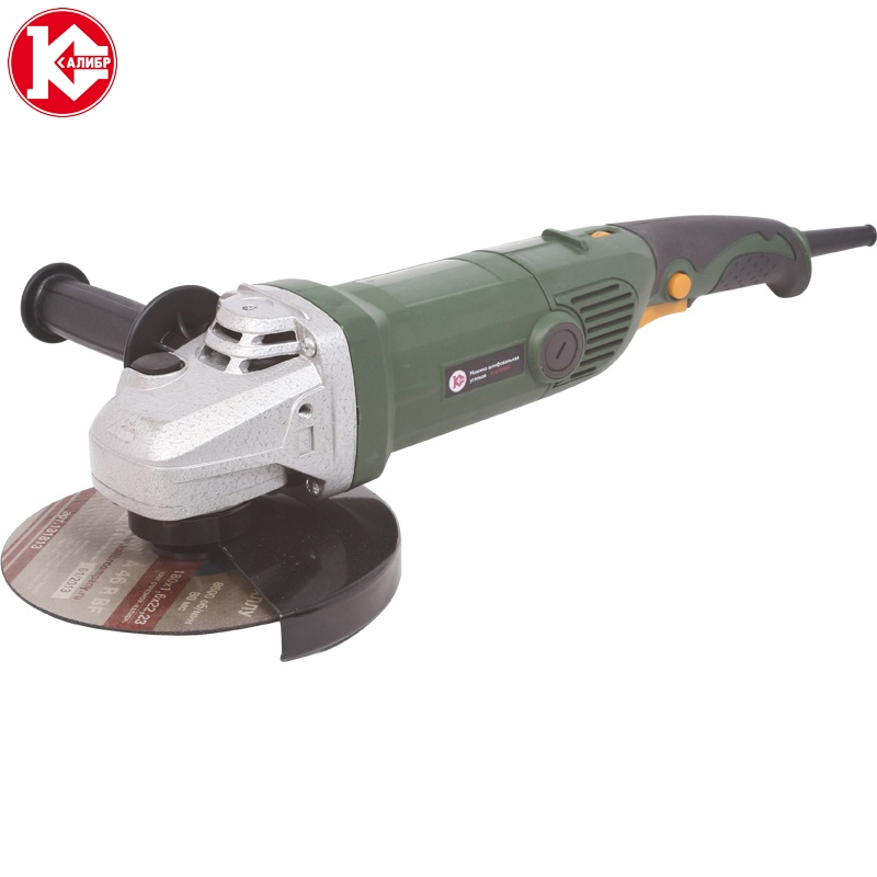 Electric tool Angle grinder Kalibr MSHU-180/1400E, disc 180mm, power 1400W, angular power tool for grinding and cutting metall talentool 25mm diamond cutting cut off blade wheel disc rotary tool for dremel with 2pcs mandrel