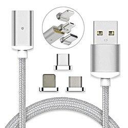 나일론 꼰 USB 타입 C/IOS/마이크로 자기 케이블 유형 C USB-C 빠른 충전기 어댑터 자석 케이블 아이폰 휴대 전화 케이블