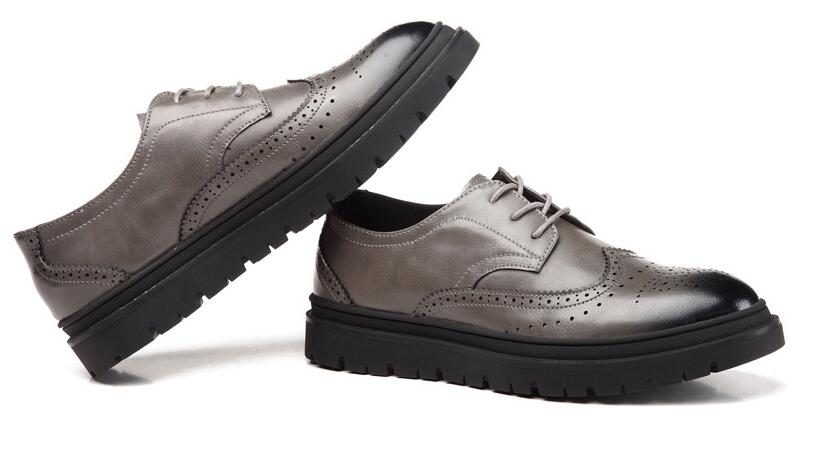 Luxury Leather Brogue Casual Dress Shoes