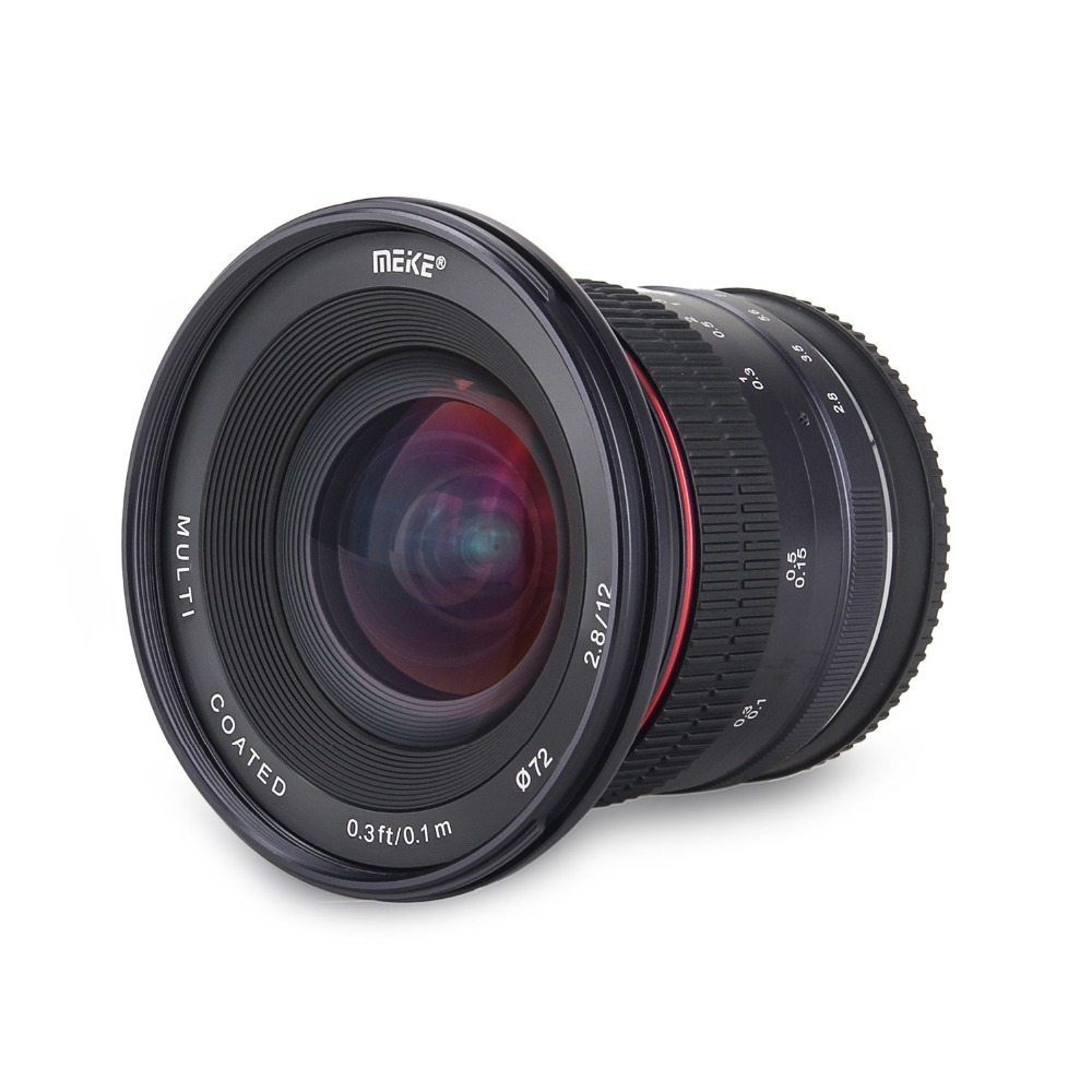 Meike 12mm f/2.8 Ultra Grand Angle Fixe Objectif pour Sony Alpha et Nex Mirrorless E-Montage caméra A7 A7S A7R II A9 A7III A7RIII