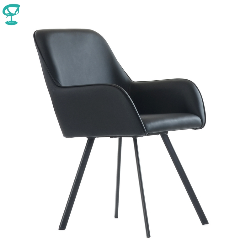 K21L1PuBlack Barneo K-21 Eco-leather Interior Lounge Chair Kitchen Furniture Metal Legs Black Free Shipping In Russia