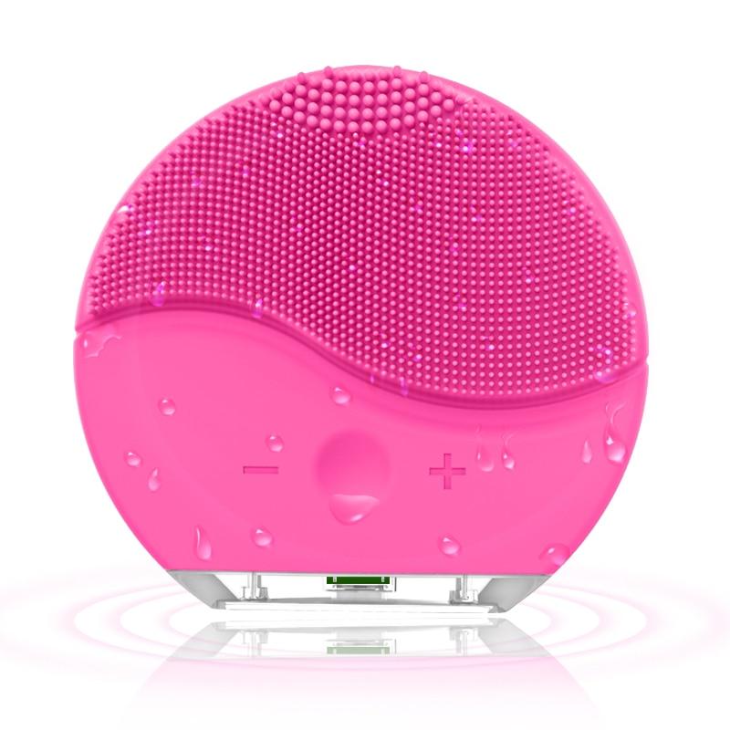 Cepillo de limpieza Facial de silicona eléctrica sonic vibración masaje USB recargable inteligente Ultra sonic limpiador Facial herramienta de belleza