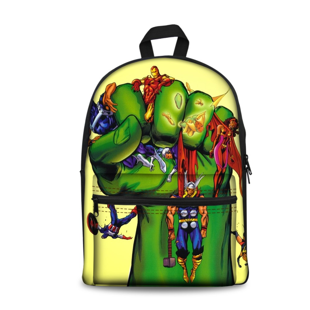 2018 Por Super Hero Deadpool Hulk Bag Backpacks School Bags Ager S Boys Students Schoolbag Bookbag Mochila Escolar