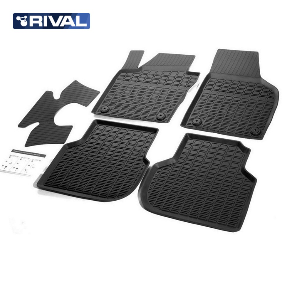 For Volkswagen Jetta 6 2011-2019 rubber floor mats into saloon 5 pcs/set Rival 65802001 fast shipping 2pcs set led marker angel eyes kit for bmw e90 saloon e91 touring no canbus error