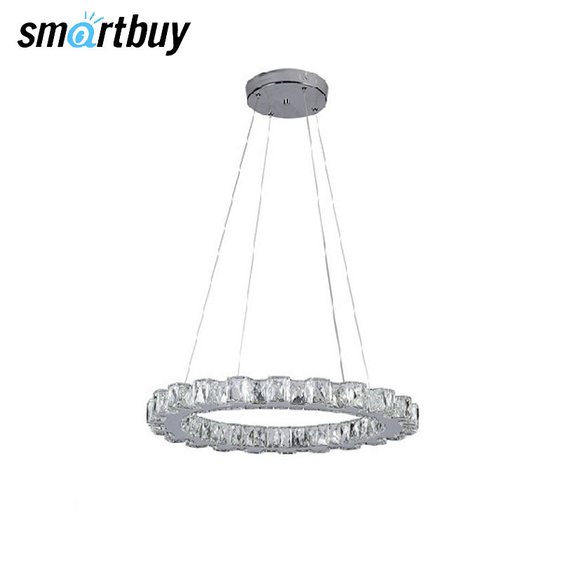 Фото - Chandelier SmartBuy Crystal 160, LED light, LED ceiling, white, 18 W, 25 W, 4000 K, SBL-CR-18W-160-4K, SBL-CR-25W-1601-4K resch dayton 18w 6400k 1890lm 18 led white ceiling lamp down light 185 265v