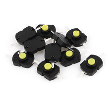 UXCELL Ac250v 1.5A 2 Terminals On/Off Latching Dip Push Button Tact Tactile Switch 10Pcs