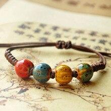 Vintage Beads Bracelet Handmade Woven Elegant  Bracelets & Bangles For Women Men Jewelry Fashion Accessory