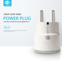 SmartYIBA WiFi Smart Socket Remote ON OFF Home Appliance EU Plug Socket For Home Smart Support Amazom Alexa Google Home etc cheap WR01W