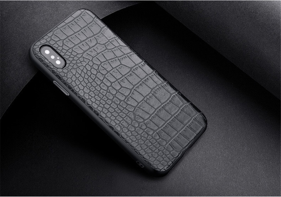 Retro Vintage Phone Bag Case For Iphone X 6 6s 7 7s 8 Plus Crocodile Snake Skin Pattern Soft Protective Cover Shell For iphoneX (6)