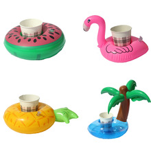 1 PCS Mini Coconut trees watermelon Floating Inflatable font b Toys b font Drink Can Cell