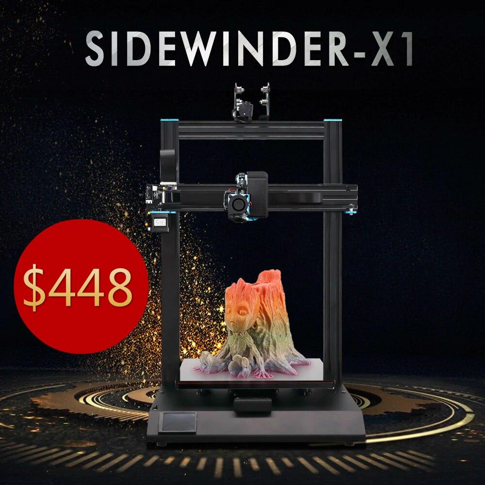 Artiglieria Sidewinder X1 Ultra Silenzioso Stepper Driver 300*300*400 millimetri TPU 3D Stampante