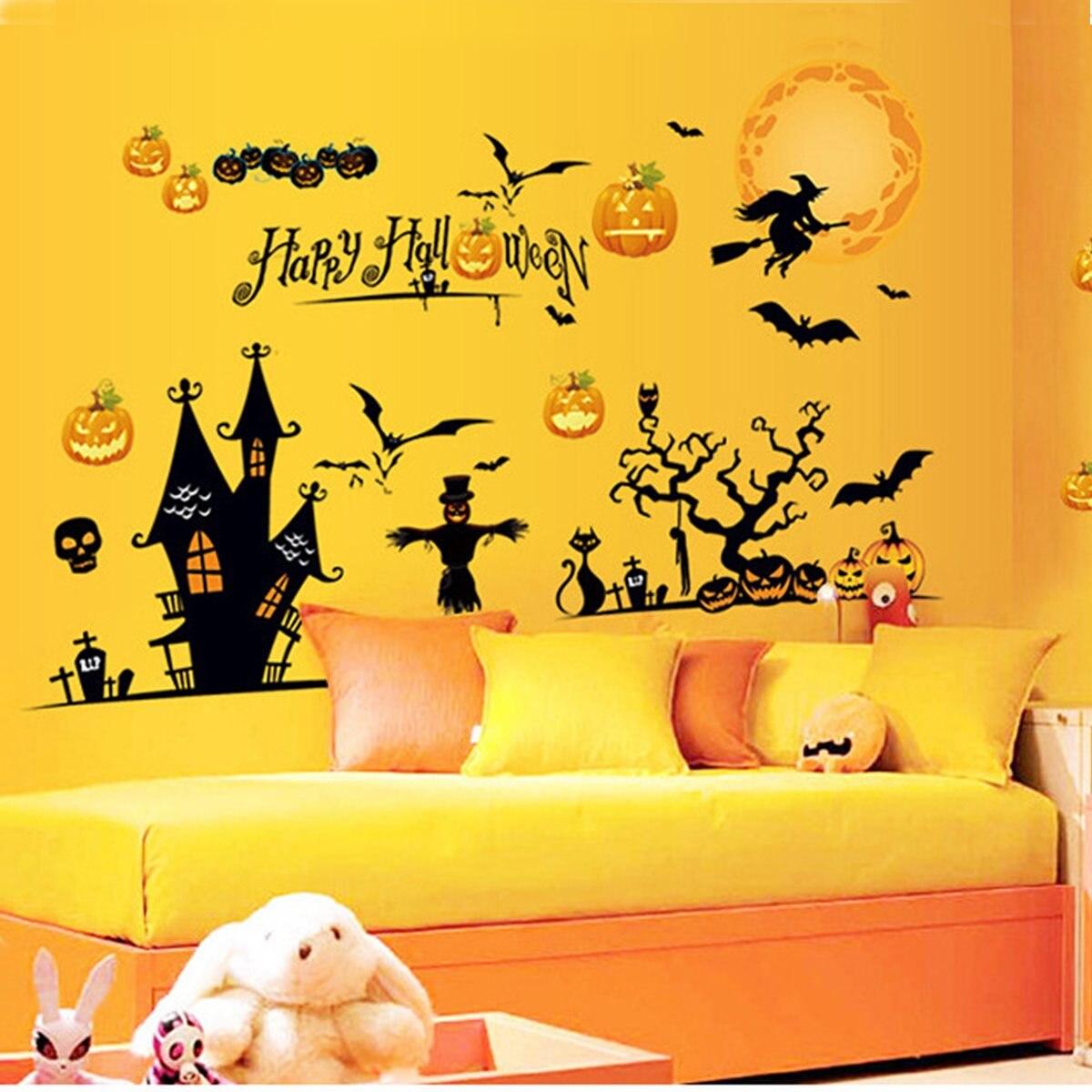 popular halloween wall scenes-buy cheap halloween wall scenes lots