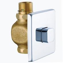 Клапан слива туалета ручной табурет для ванной комнаты латунный клапан самозакрывающийся сливной Расширенный пресс тип в стене задержки писсуар компоненты