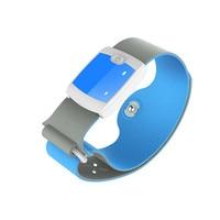 KINCO Crianças Sem Fio Bluetooth 4.0 HORAS Contínua Febre Termômetro Médico Do Monitor Inteligente Pulseira com Alertas Móveis para Babys