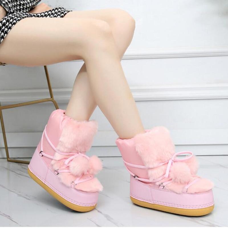 Confortables Neige Chaussures 2019 De Espace Mm186 Haute Au Noir Garder Plates Imperméables Qualité Bottes rose Nouvelles Antidérapantes Femmes Chaud wAOxZ