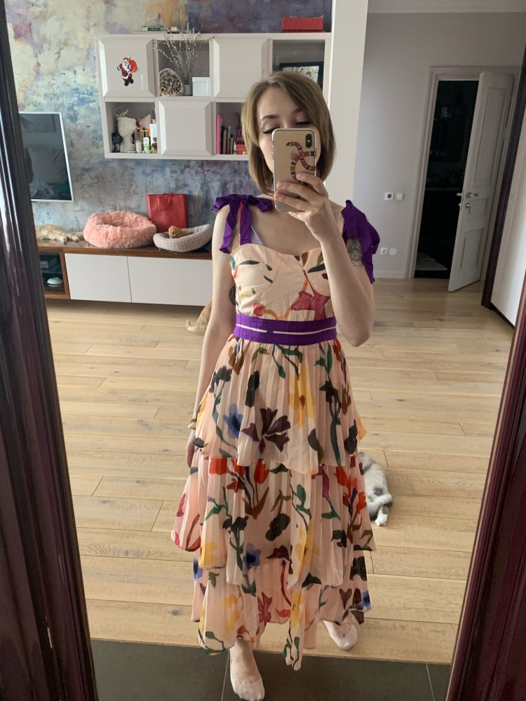 Print Strap Dresses Women Sleeveless High Waist Floor Length Pleated Dress Female Summer Casual Fashion photo review