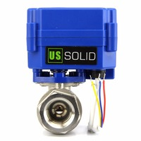 U.S. Solid 1/4 Motorized Ball Valve 9 24 V DC/AC Stainless Steel Electrical Ball Valve, 3 wire, NPT Thread